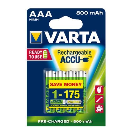 Akumulatorek VARTA HR 03 (AAA) 800mAh 4 szt