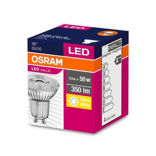 Żarówka LED 4,3W GU10 350lm 36st ciepło biała