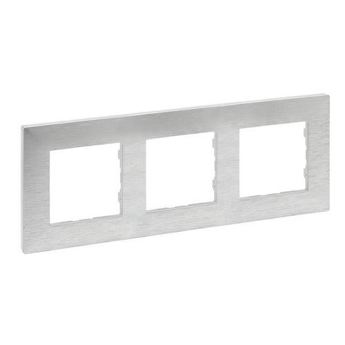 Niloe Step ramka aluminium szczotkowane potrójna