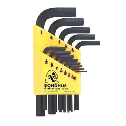 Zestaw kluczy imbusowych calowych krótkich, 13 szt.