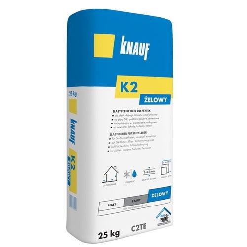 Klej do płytek elastyczny Knauf K2 żelowy 25 kg