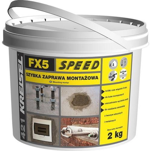Zaprawa montażowa Kreisel FX5 Speed 421 2 kg, szybkowiążąca