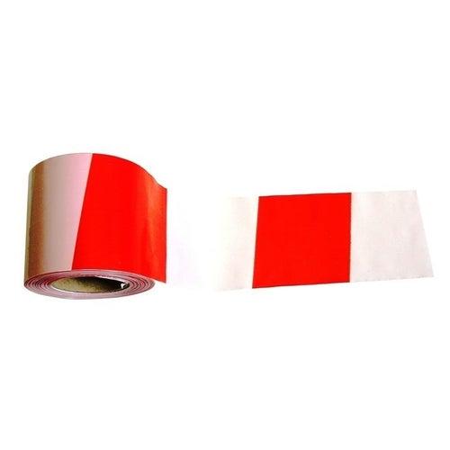 Taśma ostrzegawcza biało-czerwona, 100 mb