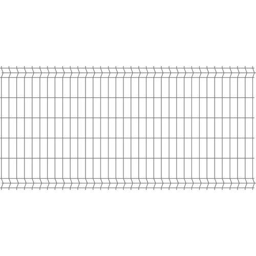 Panel ogrodzeniowy 3D antracyt, 123x250 cm, oczko 75x200 mm, drut 3.2 mm