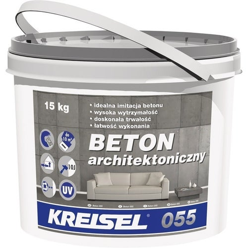 Polimerowy tynk modelowany 055 Kresiel Beton Architektoniczny 15 kg, grupa kolorystyczna II