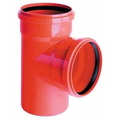 Trójnik kanalizacyjny zewnętrzny, PVC fi 160/160 mm, kąt 90°