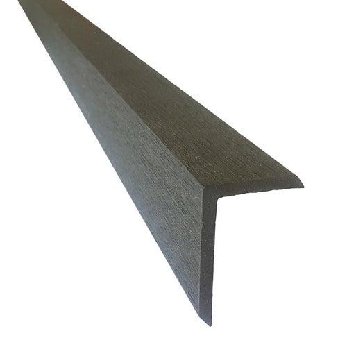 Listwa wykończeniowa do deski kompozytowej, wym. 40x60x2400 mm, grafit