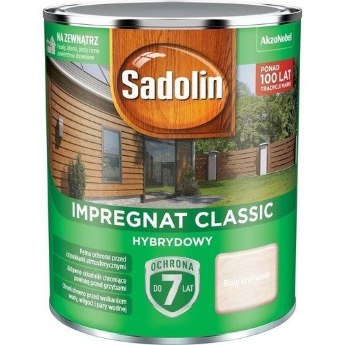 Impregnat hybrydowy Sadolin Classic biały kremowy 0,75l
