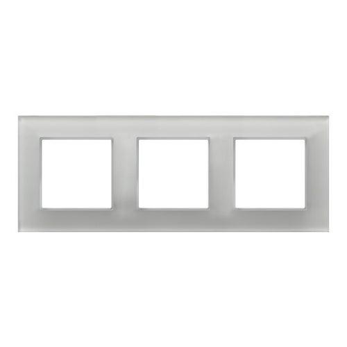 Ospel Aria ramka szkło białe potrójna