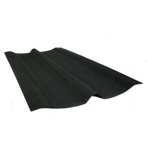 Gąsior kalenicowy Onduline, czarny wym. 1,00x0,48 m, zakład 12 cm, waga 1,2 kg