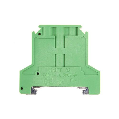 Złączka szynowa ochronna ZSO 4 0,5-4mm2 TS 35 zielono-żółta