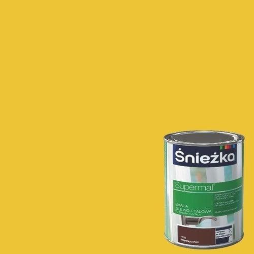 Emalia olejno-ftalowa Śnieżka Supermal żółty 0,8l