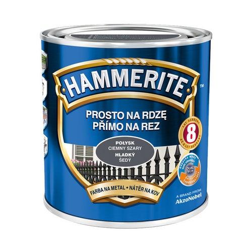 Farba Hammerite połysk ciemny szary 0,7l