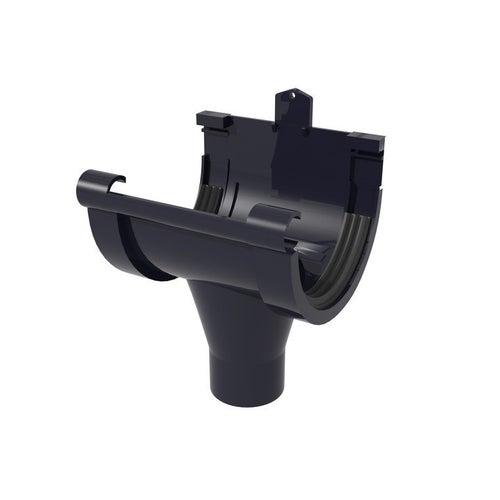 Lej spustowy centralny G80, grafitowy PVC Scala Plastics