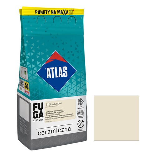 Fuga ceramiczna Atlas 118 jaśminowy 5kg