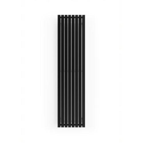 Grzejnik dekoracyjny TRP 160x39 cm, czarny matowy