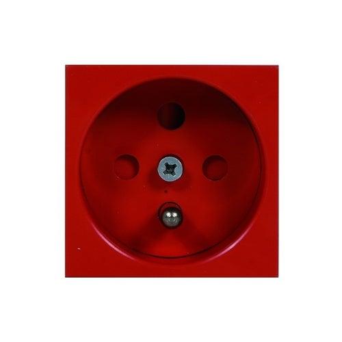 Gniazdo pojedyncze z uziemieniem M45 czarwone