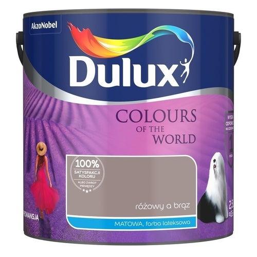 Farba Dulux Kolory Świata różowy a brąz 2,5l
