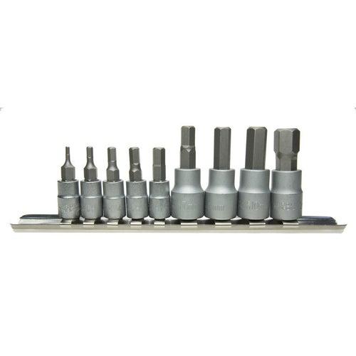 Zestaw nasadek HEX 1/4 cala 35 mm, 9 szt.