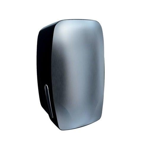 Pojemnik na papier toaletowy w listkach Merida Mercury, do 400 listków papieru, czarny, BMC401