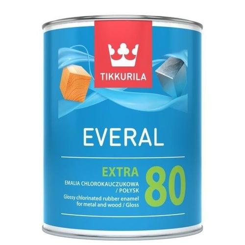 Tikkurila Everal Extra emalia chlorokauczukowa 0,9L