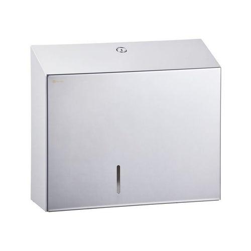 Pojemnik na papier toaletowy Merida Stella Duo z uchwytem na resztkę rolki, stal polerowana , BSP202