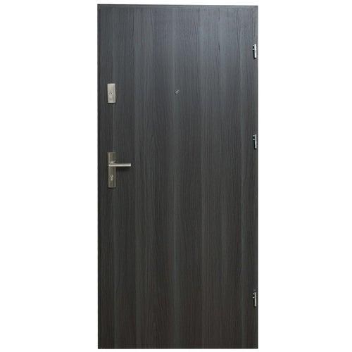 Drzwi wejściowe Dioryt Plus 90 prawe dąb grafit