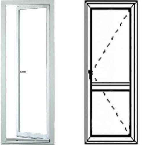 Okno balkonowe 2-szybowe  PCV OB6 lewe 865x2195 mm białe