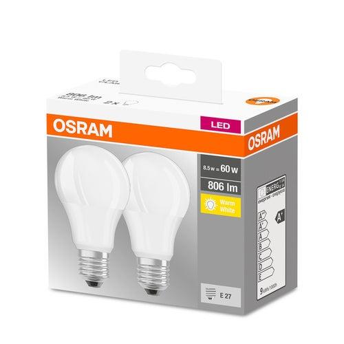 Zestaw 2x żarówka LED 8,5W E27 806LM A60 ciepło biała