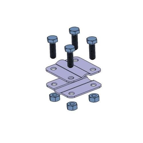 Złącze krzyżowe małe dwie płytki 4xM8