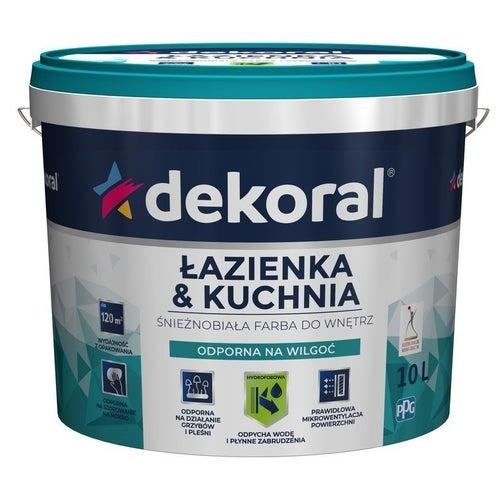 Farba Dekoral Łazienka i Kuchnia biała 10l