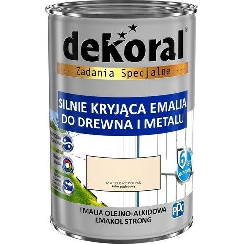 Emalia olejno-alkidowa Dekoral Emakol Strong morelowy 0,9l