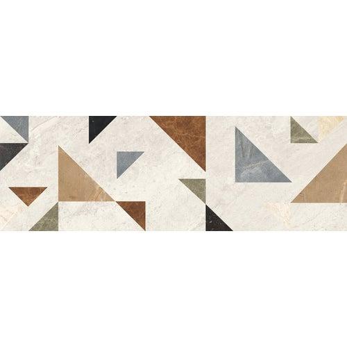 Dekor ścienny Supreme Grys Mix 25x75 cm