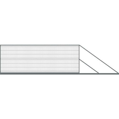 Brama ogrodzeniowa panelowa przesuwna antracyt, 150x400 cm, prawa