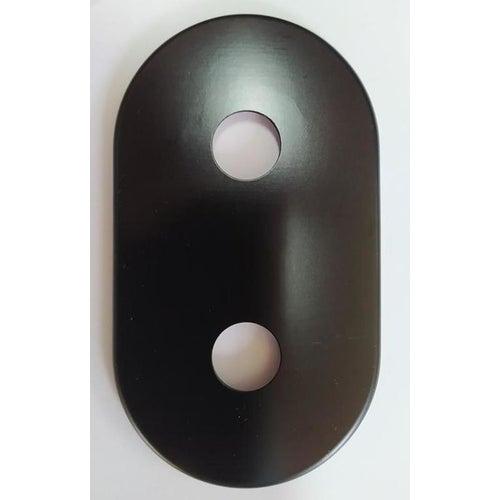 Rozeta maskująca podwójna fi 16 mm czarna