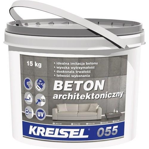 Polimerowy tynk modelowany 055 Kresiel Beton Architektoniczny 15 kg, grupa kolorystyczna III