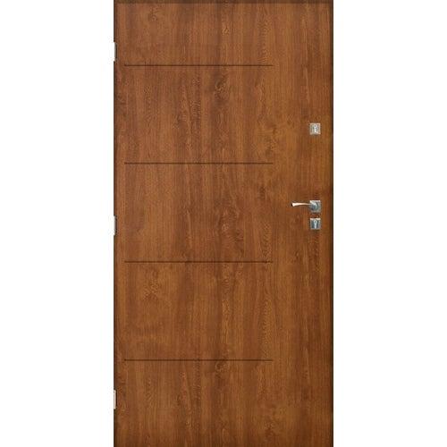 Drzwi zewnętrzne pełne Lublin 80 cm lewe złoty dąb
