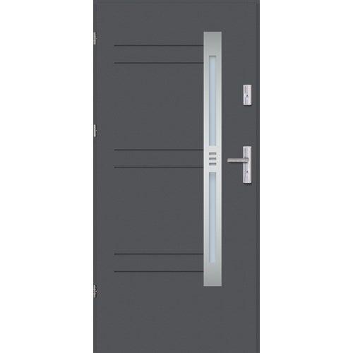 Drzwi wejściowe Nordica 3 90 cm, lewe, antracyt