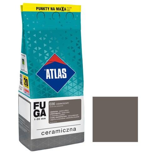 Fuga ceramiczna Atlas 036 ciemnoszary 2kg