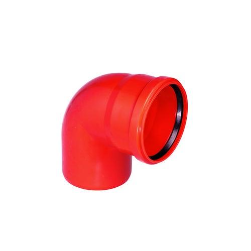 Kolano kanalizacyjne zewnętrzne, PVC fi 110 mm, kąt 87°