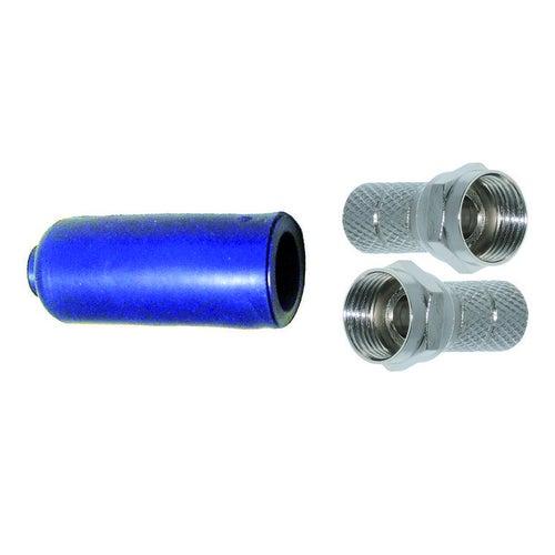 Zestaw 2 x wtyk F (7 mm) + gumowa osłona