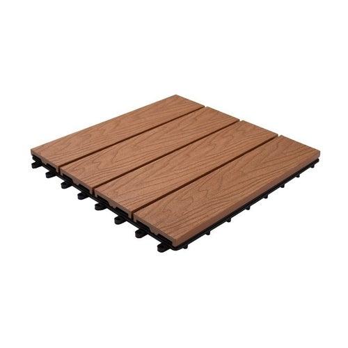 Podest tarasowy, kompozytowy, 4-lamelowy, wym. 300x300 mm, struktura drewna, teak