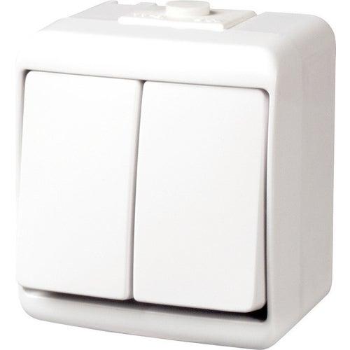 Karlik Junior biały łącznik podwójny IP44