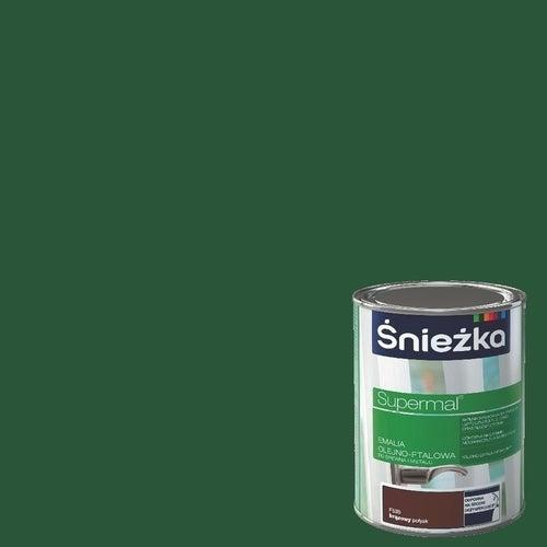 Emalia olejno-ftalowa Śnieżka Supermal zielony 0,8l