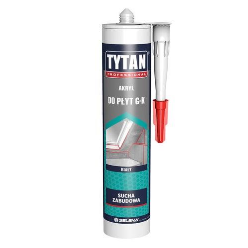Akryl do płyt gipsowo-kartonowych Tytan 280 ml, biały