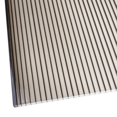 Płyta komorowa z poliwęglanu, dymna, 4 mm wym. 200x105 cm