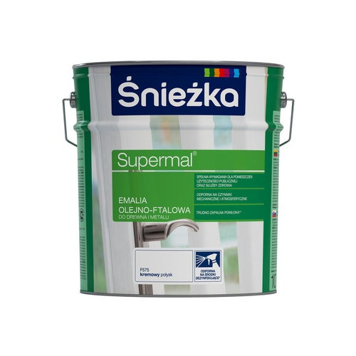 Emalia olejno-ftalowa Śnieżka Supermal kremowy 10l