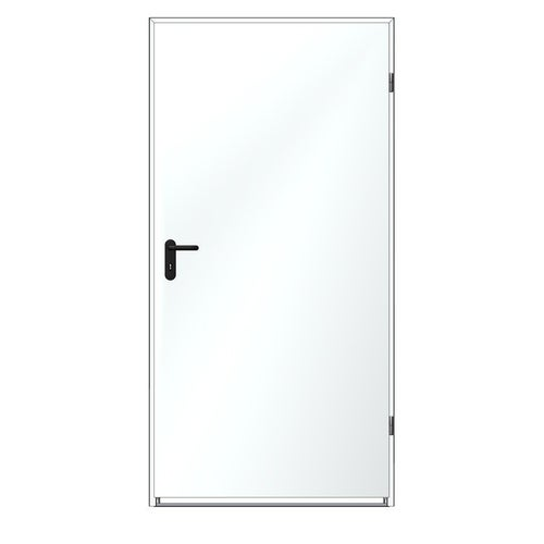 Drzwi techniczne zewnętrzne Zk Iso 100 cm, ocieplone styropianem, białe