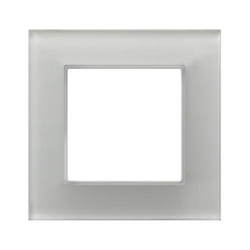 Ospel Aria ramka szkło białe pojedyncza