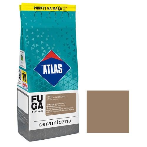 Fuga ceramiczna Atlas 123 jasnobrązowy 2kg
